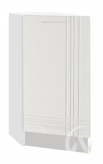 "Кухня ""Струна"": Шкаф нижний торцевой 300, ШНТ 300 (белый металлик/корпус белый)"