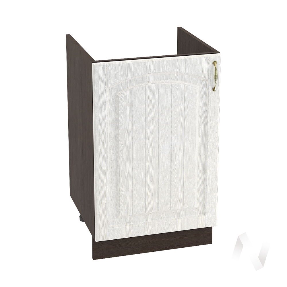 """Кухня """"Верона"""": Шкаф нижний под мойку 500 левый, ШНМ 500 (ясень золотистый/корпус венге)"""