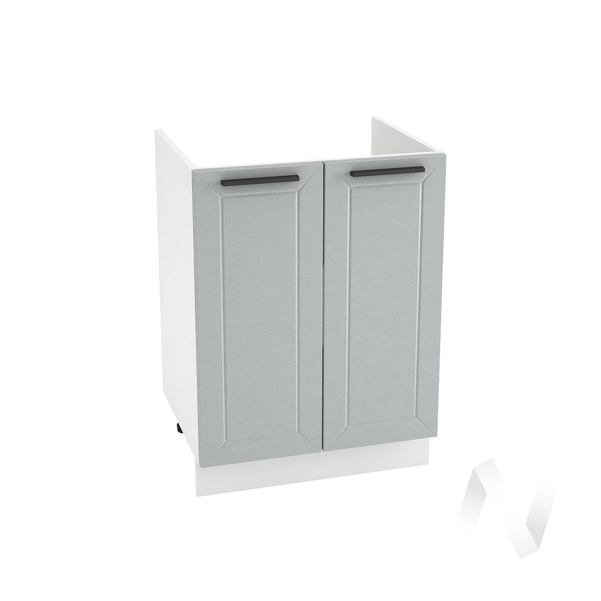 "Кухня ""Глетчер"": Шкаф нижний под мойку 600, ШНМ 600 (Гейнсборо Силк/корпус белый)"