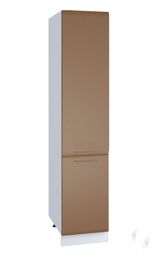 """Кухня """"Люкс"""": Шкаф пенал 400, ШП 400 (Шоколад матовый/корпус белый)"""