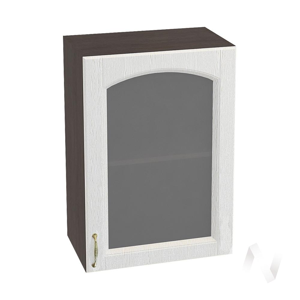 """Кухня """"Верона"""": Шкаф верхний со стеклом 500 правый, ШВС 500 (ясень золотистый/корпус венге)"""