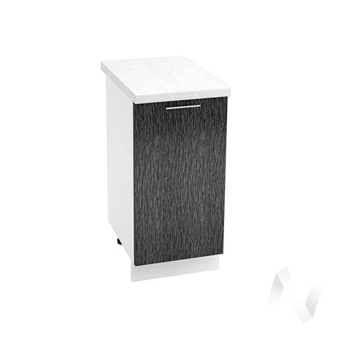 "Кухня ""Валерия-М"": Шкаф нижний 400, ШН 400 (дождь черный/корпус белый)"