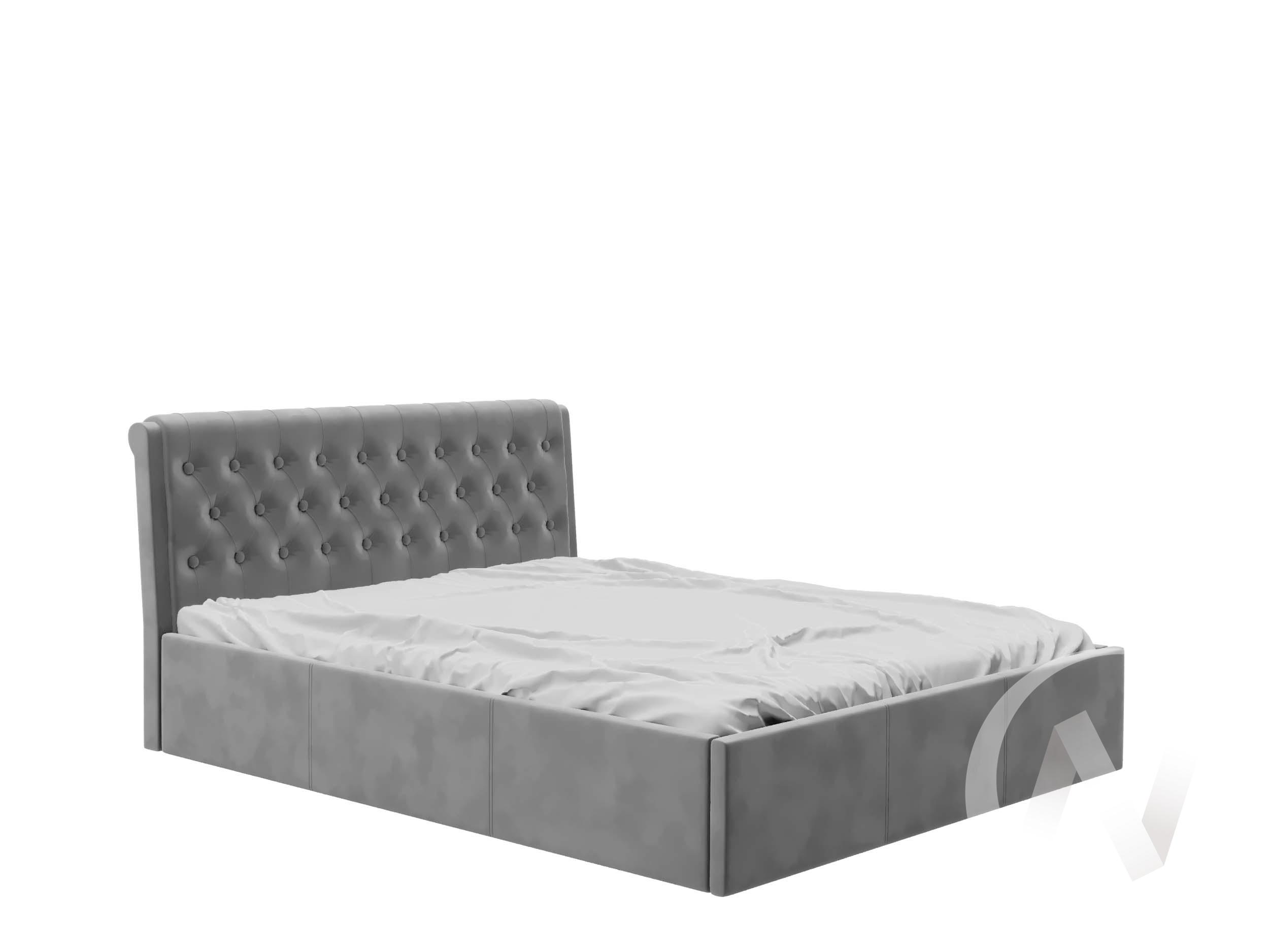 Кровать Дженни 1,4 с подъемным механизмом (вельвет серый)  в Томске — интернет магазин МИРА-мебель