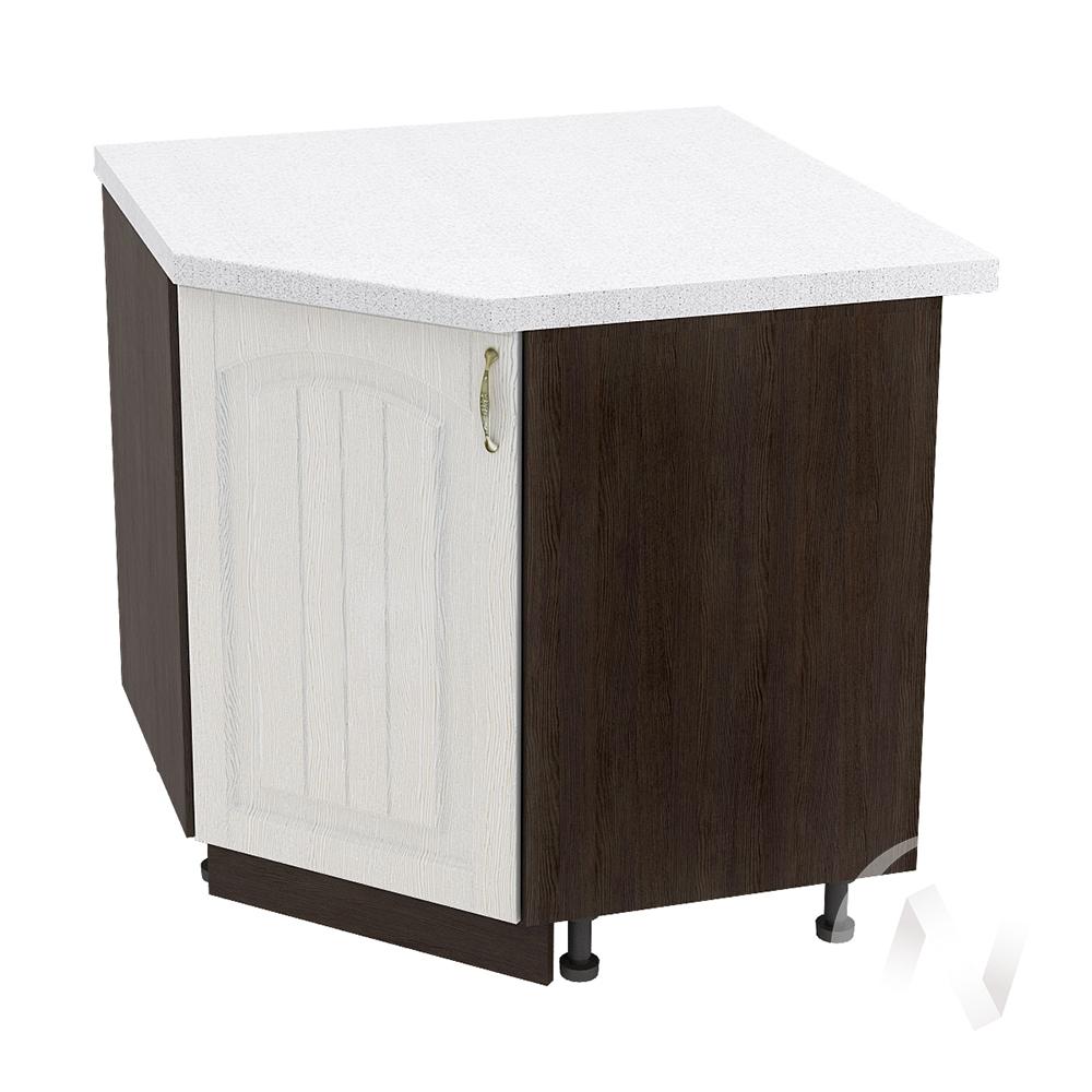 """Кухня """"Верона"""": Шкаф нижний угловой 890 левый, ШНУ 890 (ясень золотистый/корпус венге)"""