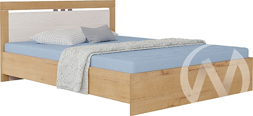 Светлана М16 Кровать 1,6 №1 (дуб бунратти/бодега)