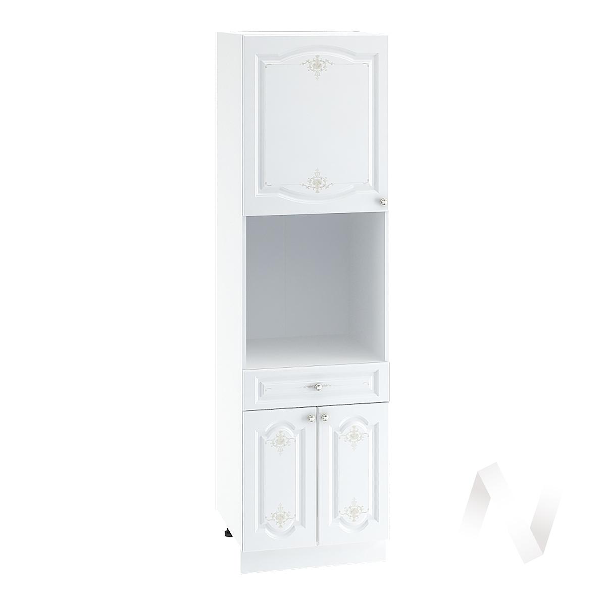 """Кухня """"Шарлиз"""": Шкаф пенал с ящиком 600, ШП1Я 600 (корпус белый)"""