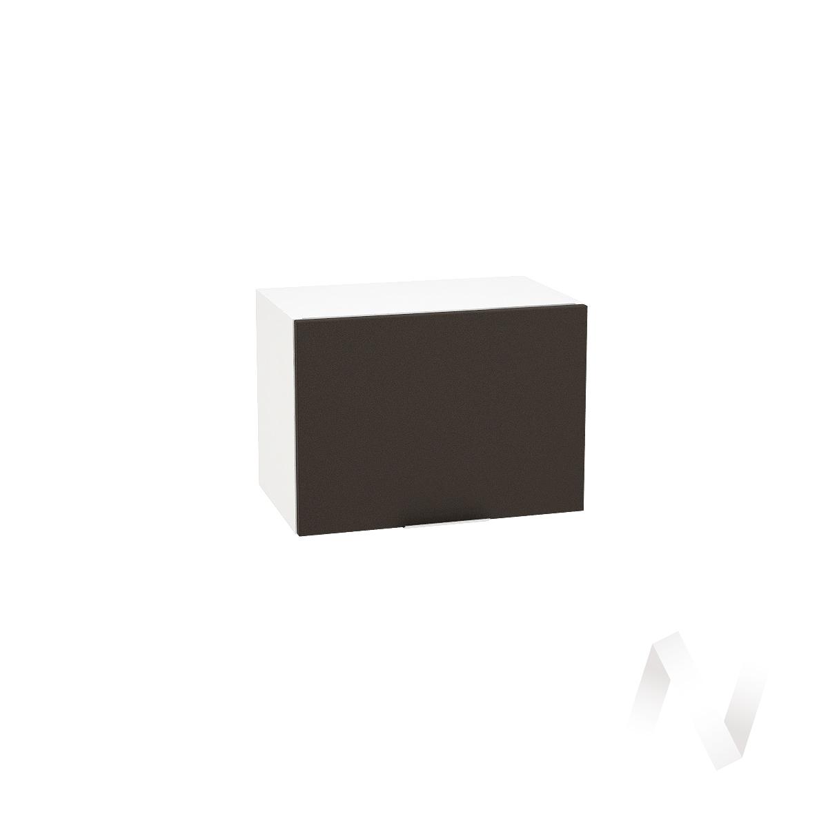 """Кухня """"Терра"""": Шкаф верхний горизонтальный 500, ШВГ 500 (смоки софт/корпус белый)"""