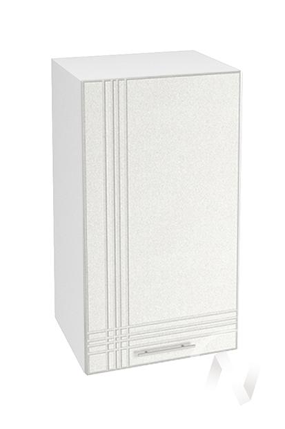 """Кухня """"Струна"""": Шкаф верхний 400, ШВ 400 (белый металлик/корпус белый)"""