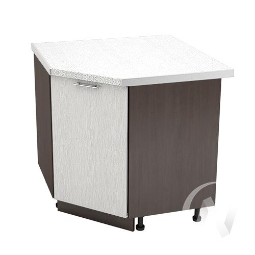 """Кухня """"Валерия-М"""": Шкаф нижний угловой 890, ШНУ 890 (дождь серый/корпус венге)"""