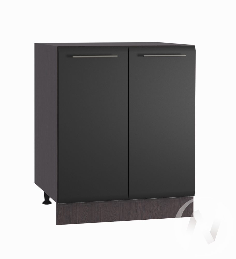 "Кухня ""Люкс"": Шкаф нижний 600, ШН 600 (Шелк венге/корпус венге)"