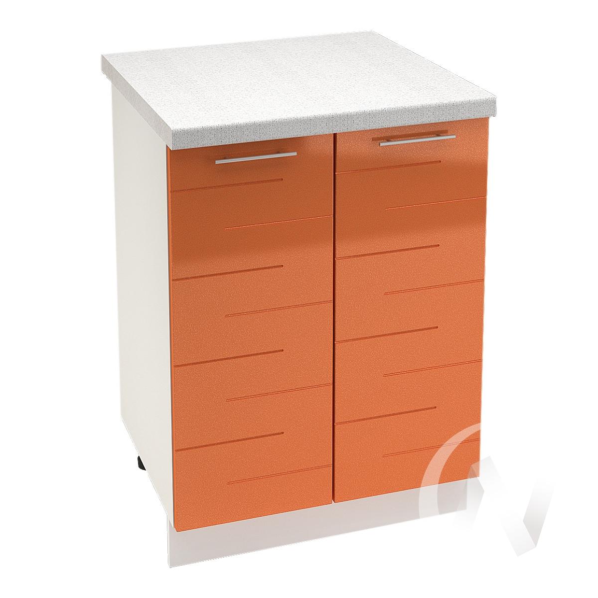 """Кухня """"Техно"""": Шкаф нижний 600, ШН 600 (корпус белый)"""