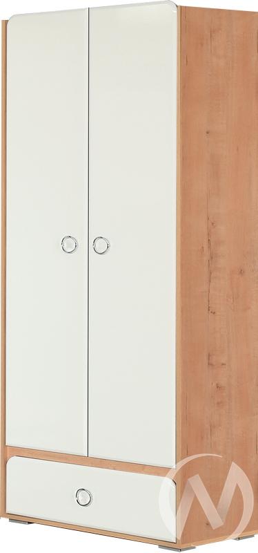 Скай М4 Шкаф 2х створчатый (дуб бунратти/белый глянец)