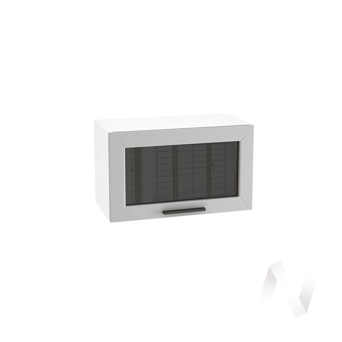 """Кухня """"Глетчер"""": Шкаф верхний горизонтальный со стеклом 600, ШВГС 600 (Гейнсборо силк/корпус белый)"""