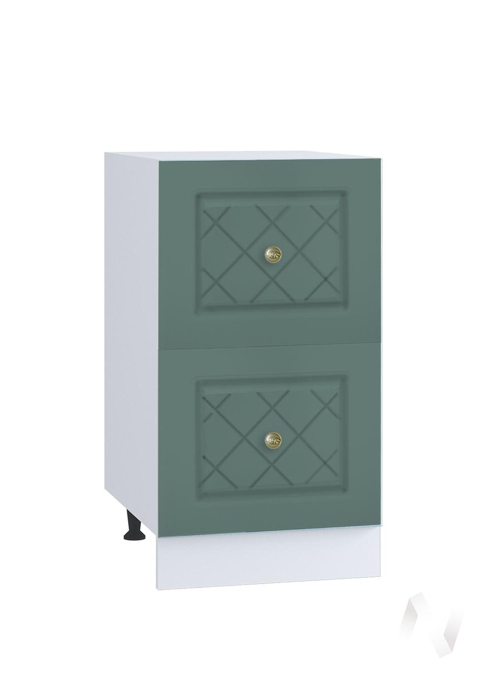 """Кухня """"Селена"""": Шкаф нижний с 2-мя ящиками 400, ШН2Я 400 (Дуб бирюзовый/корпус белый)"""