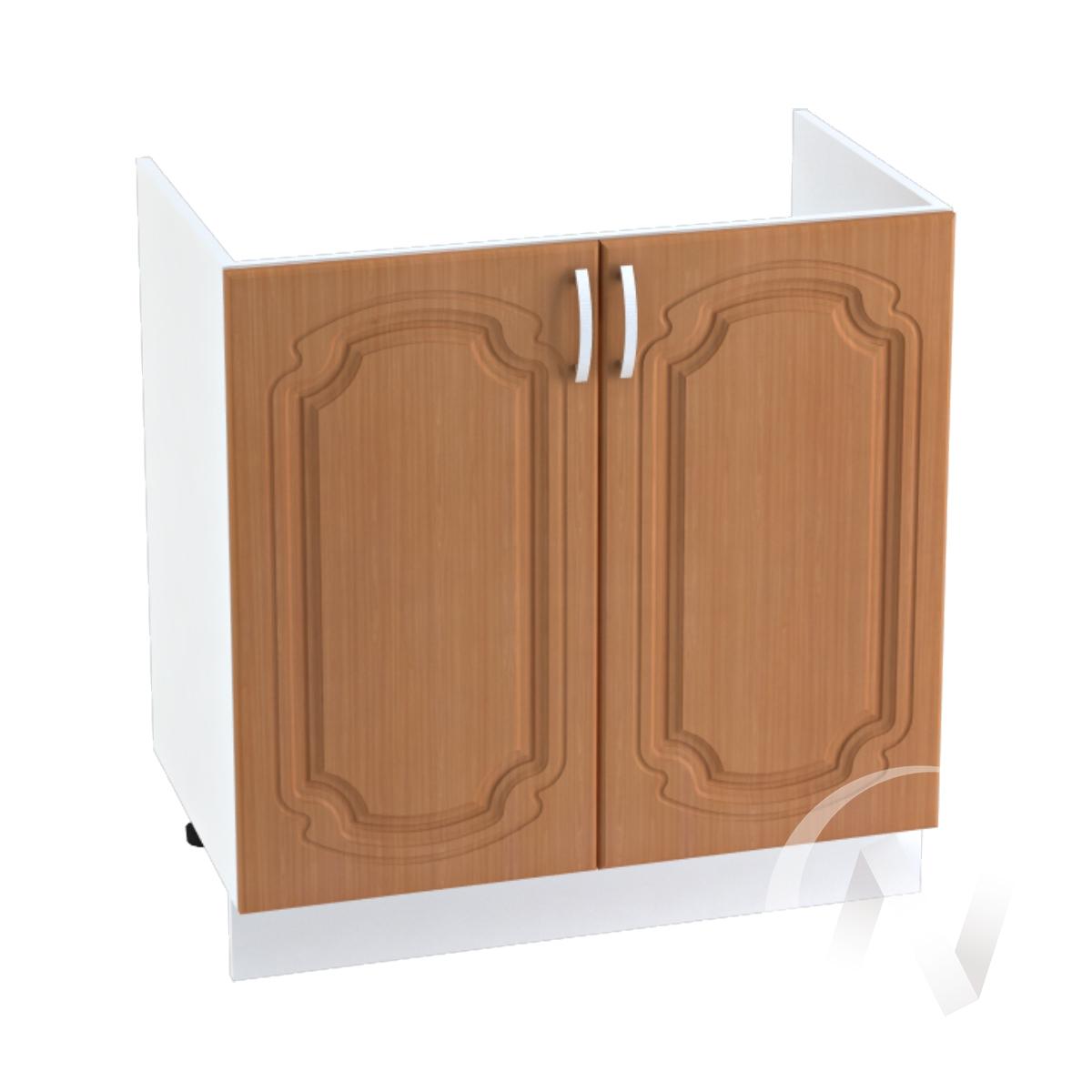 "Кухня ""Настя"": Шкаф нижний под мойку 800, ШНМ 800 (Орех миланский/корпус белый)"