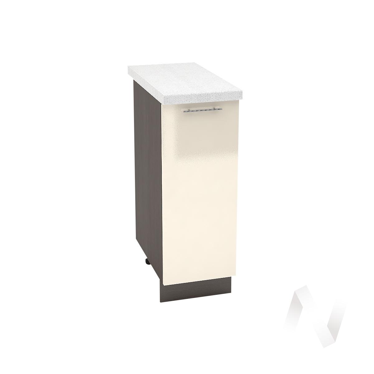 "Кухня ""Валерия-М"": Шкаф нижний 300, ШН 300 (Ваниль глянец/корпус венге)"