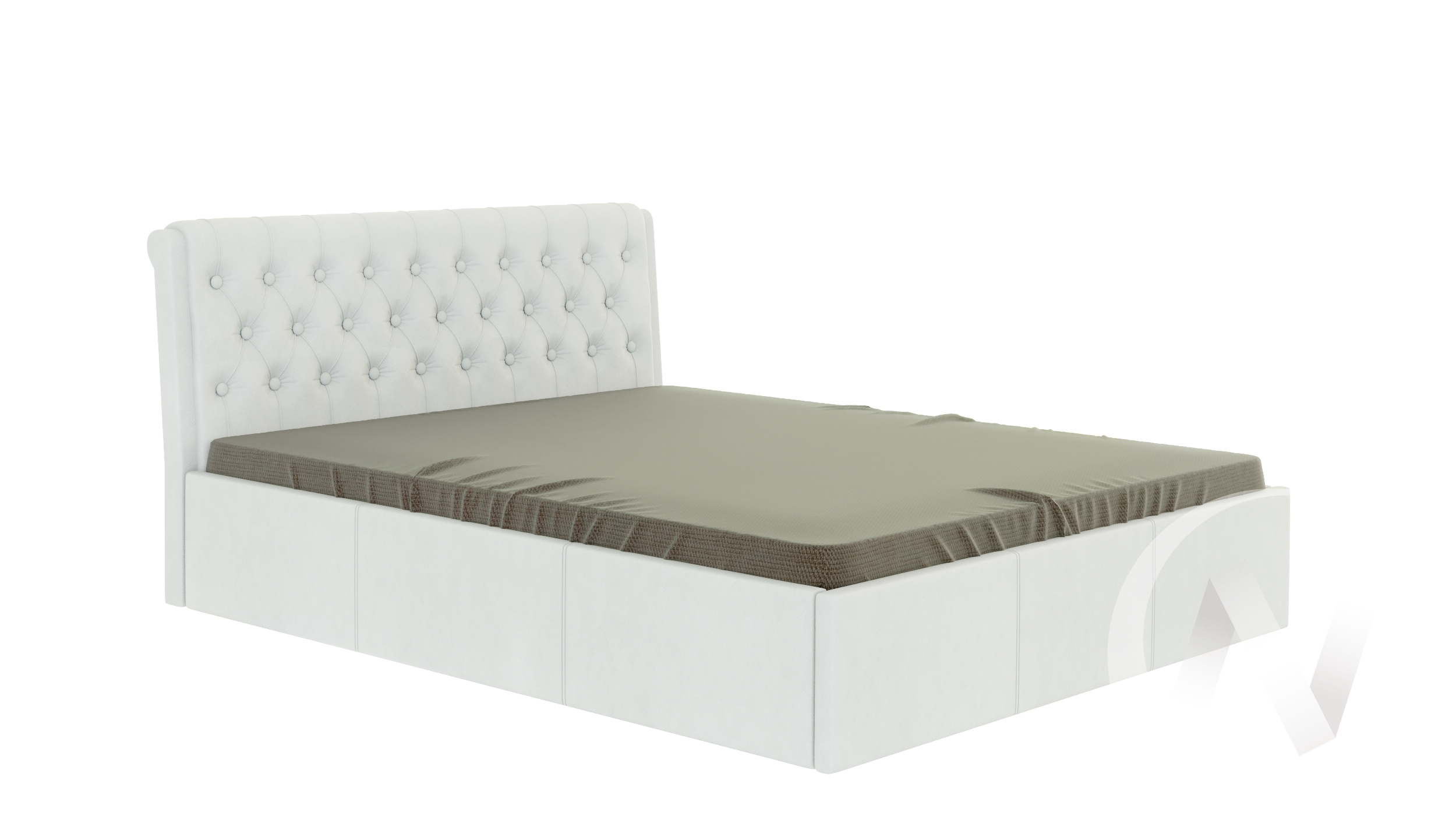 Кровать Дженни 1,6 (белый)  в Новосибирске - интернет магазин Мебельный Проспект