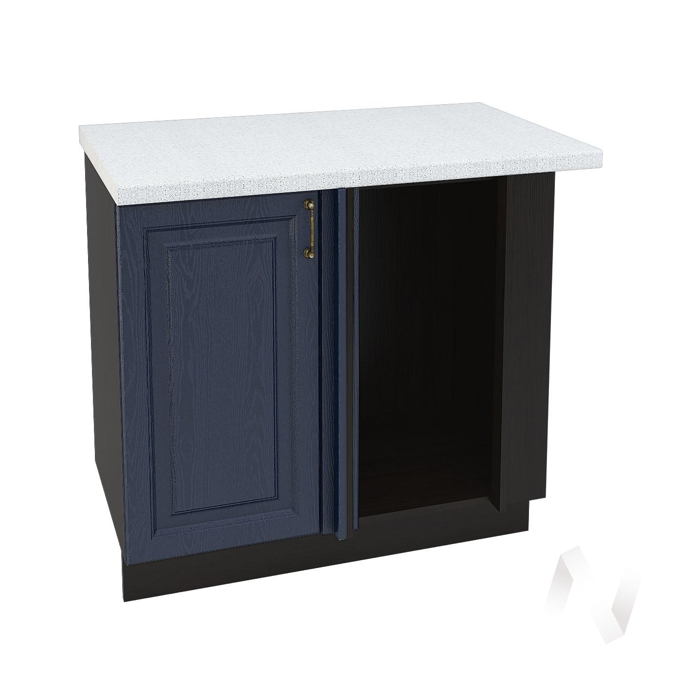 """Кухня """"Ницца"""": Шкаф нижний угловой 990М, ШНУ 990М (Дуб чернильный/корпус венге)"""