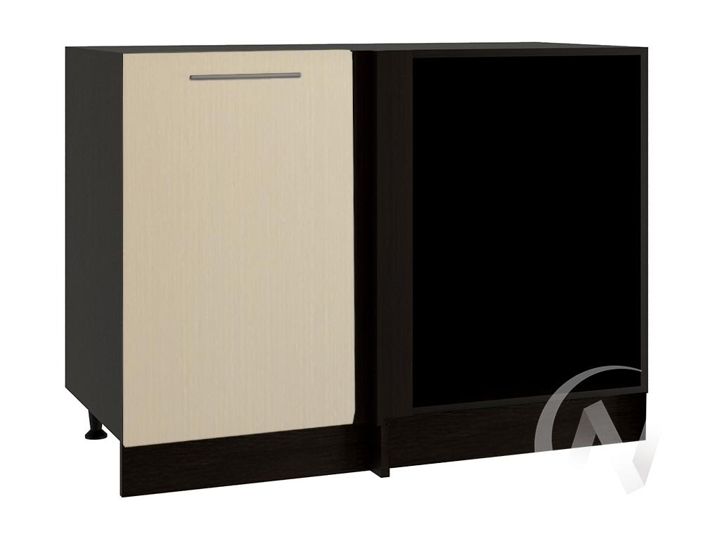 "Кухня ""Люкс"": Шкаф нижний угловой 990, ШНУ 990 (Шелк жемчуг/корпус венге)"