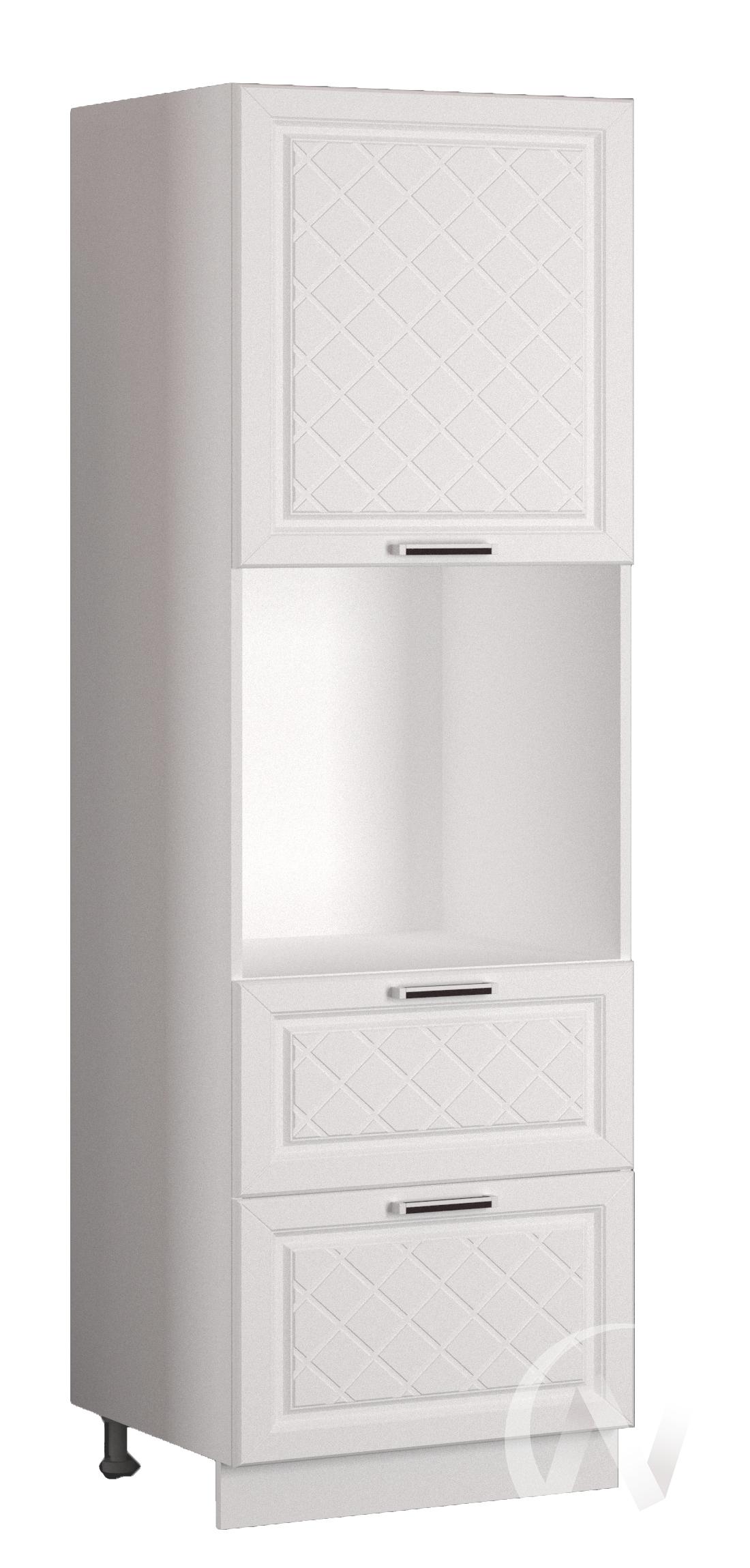 """Кухня """"Вена"""": Шкаф пенал с 2-мя ящиками 600, ШП2Я 600 (корпус белый)"""