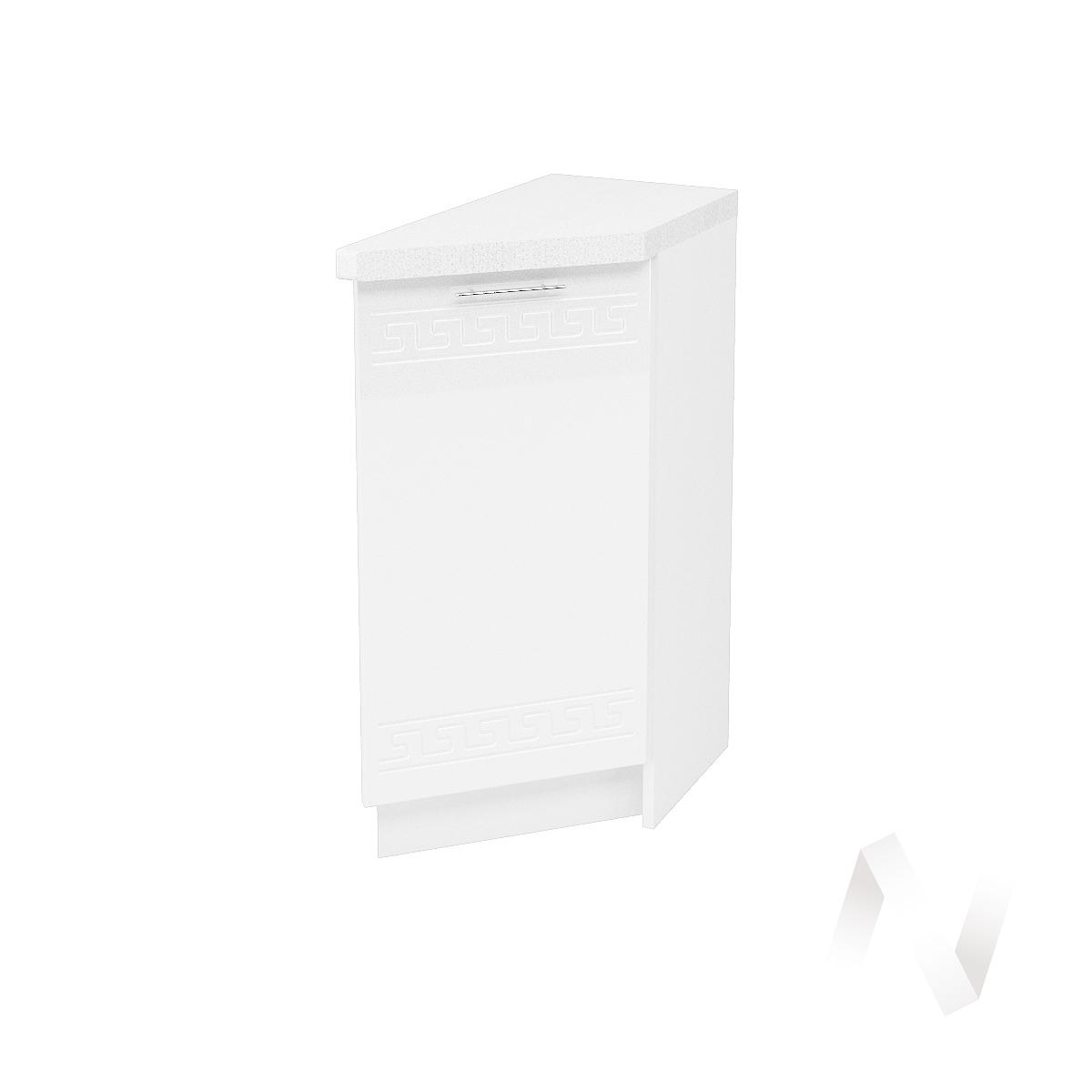 """Кухня """"Греция"""": Шкаф нижний торцевой 300, ШНТ 300 (белый металлик/корпус белый)"""