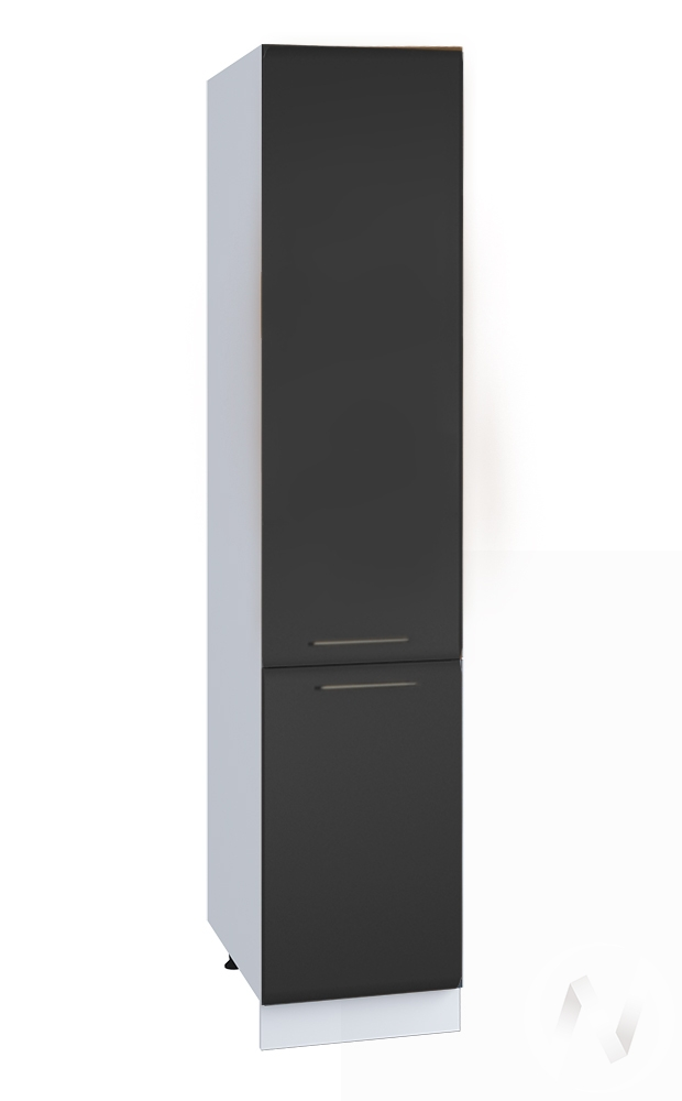 """Кухня """"Люкс"""": Шкаф пенал 400, ШП 400 (Шелк венге/корпус белый)"""