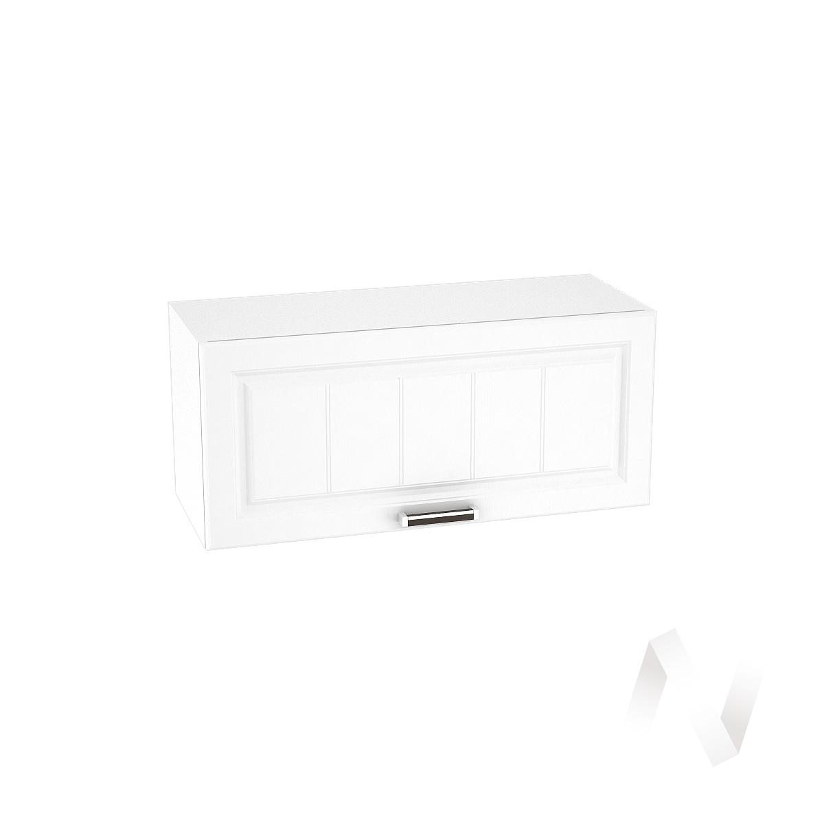 """Кухня """"Прага"""": Шкаф верхний горизонтальный 800, ШВГ 800 (белое дерево/корпус белый)"""