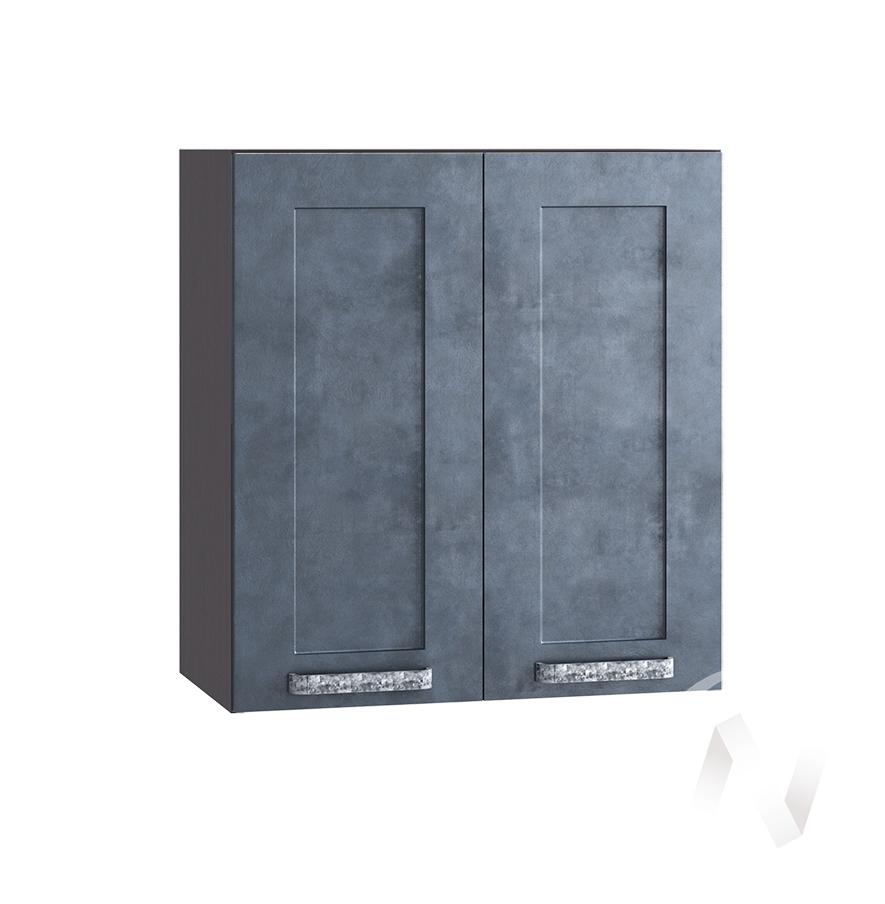 """Кухня """"Лофт"""": Шкаф верхний 600, ШВ 600 (Бетон графит/корпус венге)"""