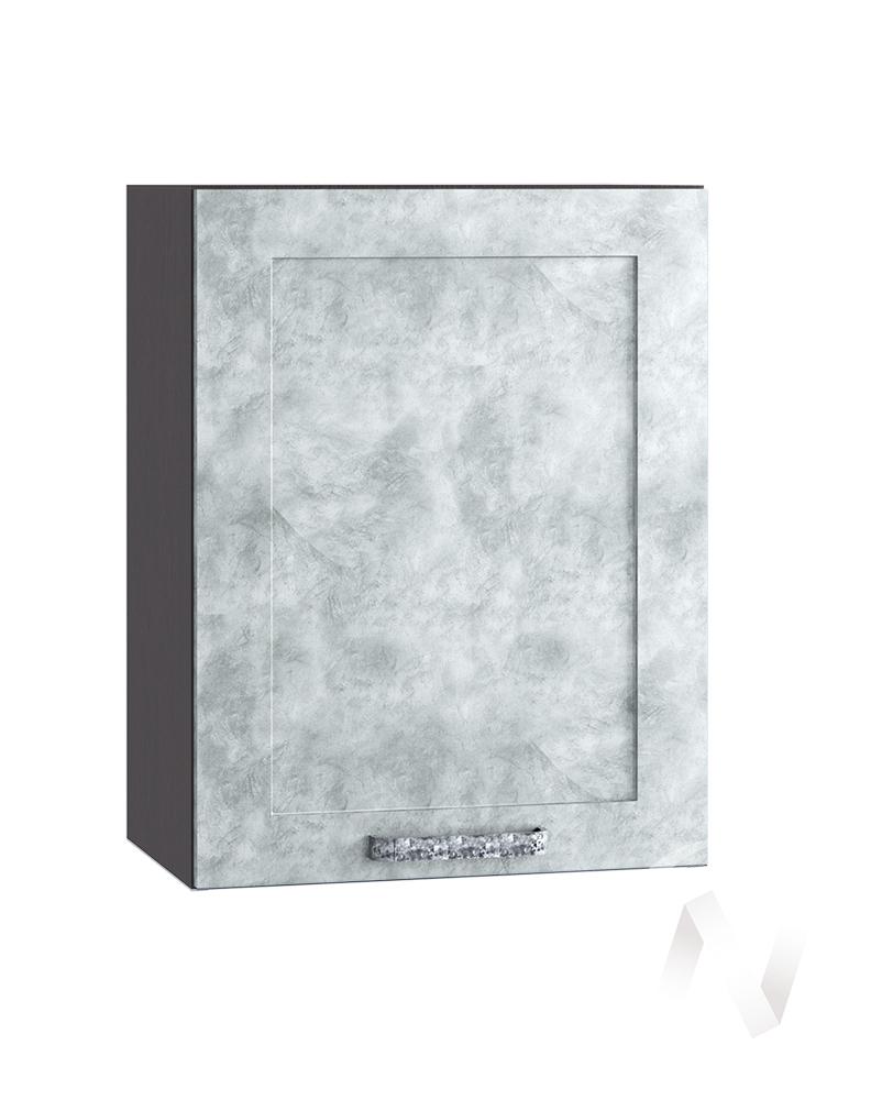 "Кухня ""Лофт"": Шкаф верхний 500, ШВ 500 (Бетон серый/корпус венге)"