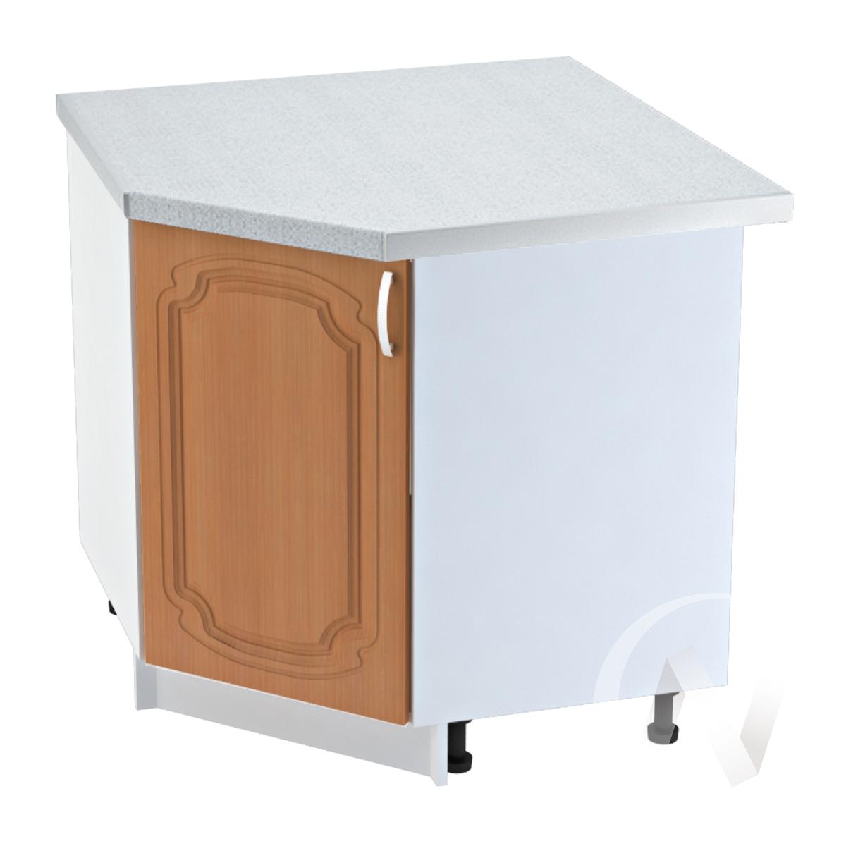 """Кухня """"Настя"""": Шкаф нижний угловой 890, ШНУ 890 (Орех миланский/корпус белый)"""