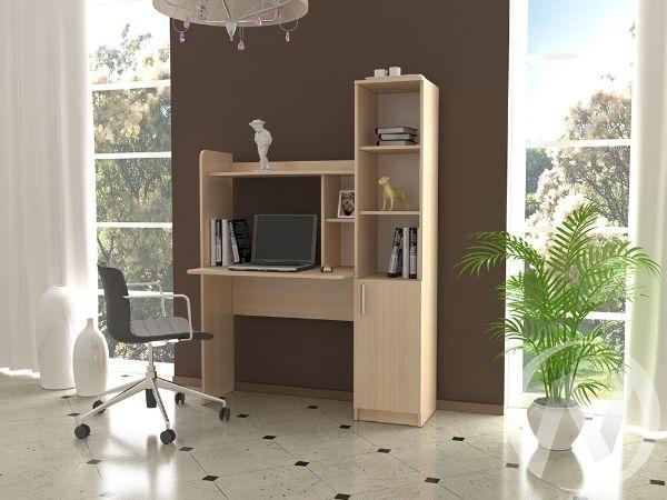 Компьютерный стол КС 4 (дуб молочный)