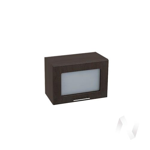 """Кухня """"Валерия-М"""": Шкаф верхний горизонтальный со стеклом 500, ШВГС 500 (венге/корпус венге)"""