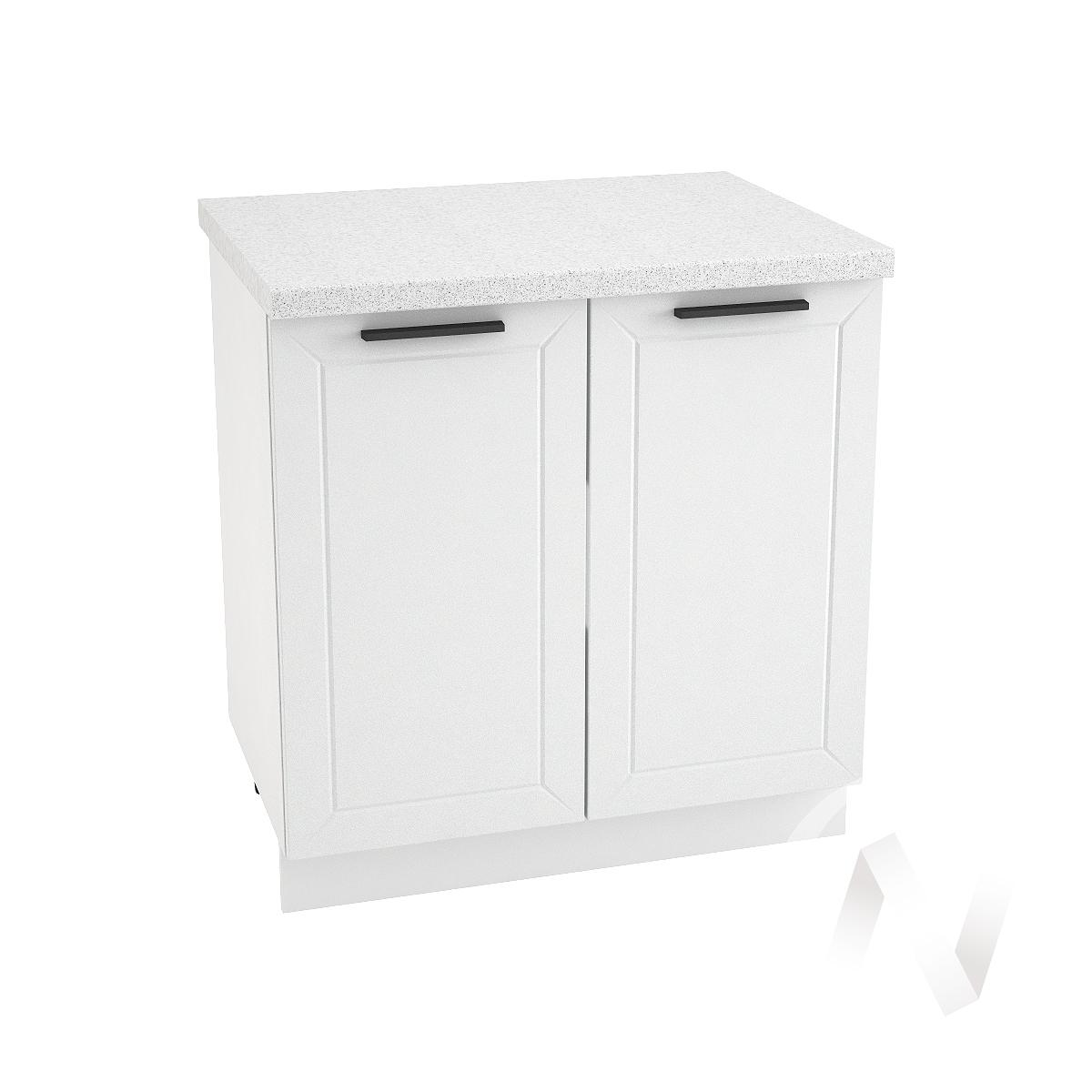 """Кухня """"Глетчер"""": Шкаф нижний 800, ШН 800 (Айленд Силк/корпус белый)"""