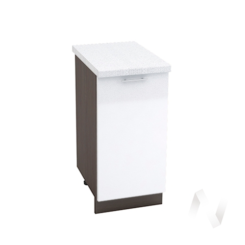"Кухня ""Валерия-М"": Шкаф нижний 400, ШН 400 (белый металлик/корпус венге)"