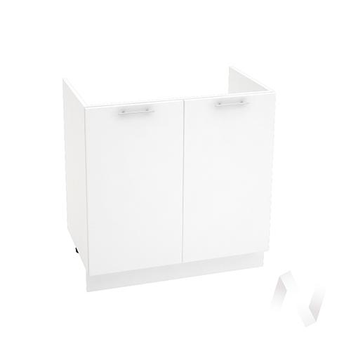 "Кухня ""Валерия-М"": Шкаф нижний под мойку 800, ШНМ 800 (белый глянец/корпус белый)"