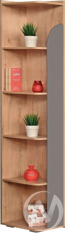 Скай М8 Угол завершающий левый (дуб бунратти/графит) недорого в Томске — интернет-магазин авторской мебели Экостиль