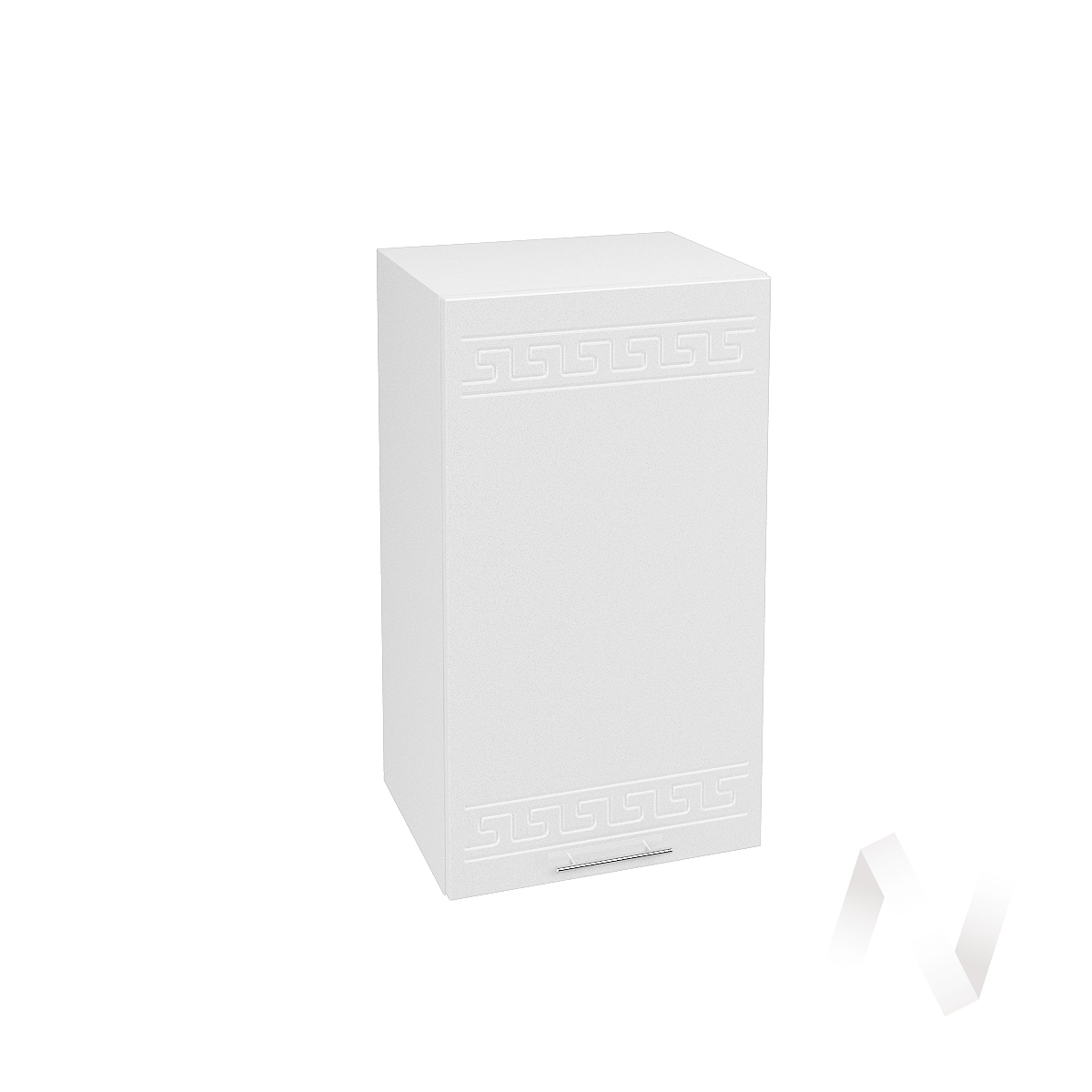 """Кухня """"Греция"""": Шкаф верхний 400, ШВ 400 (белый металлик/корпус белый)"""