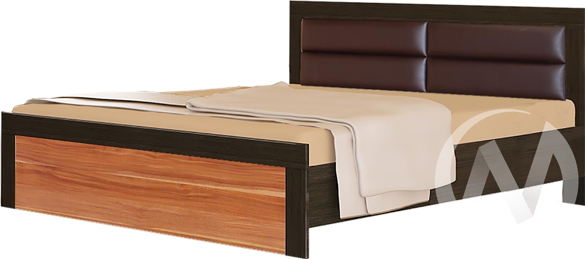 Токио Кровать № 2 1,6 (венге-слива валлис)