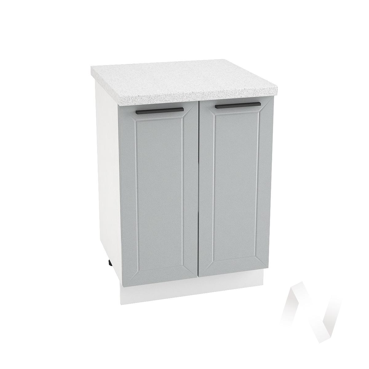 "Кухня ""Глетчер"": Шкаф нижний 600, ШН 600 (Гейнсборо Силк/корпус белый)"