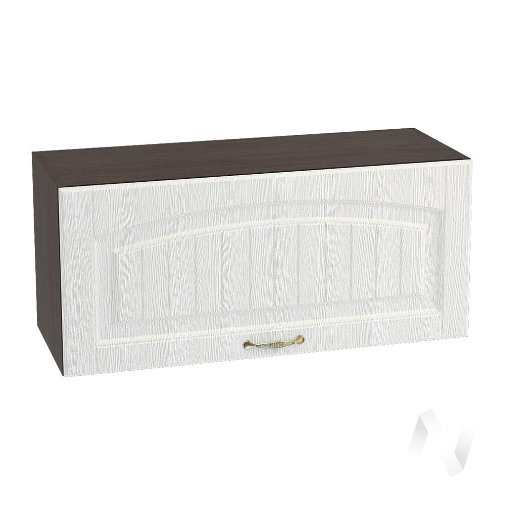 """Кухня """"Верона"""": Шкаф верхний горизонтальный 800, ШВГ 800 (ясень золотистый/корпус венге)"""