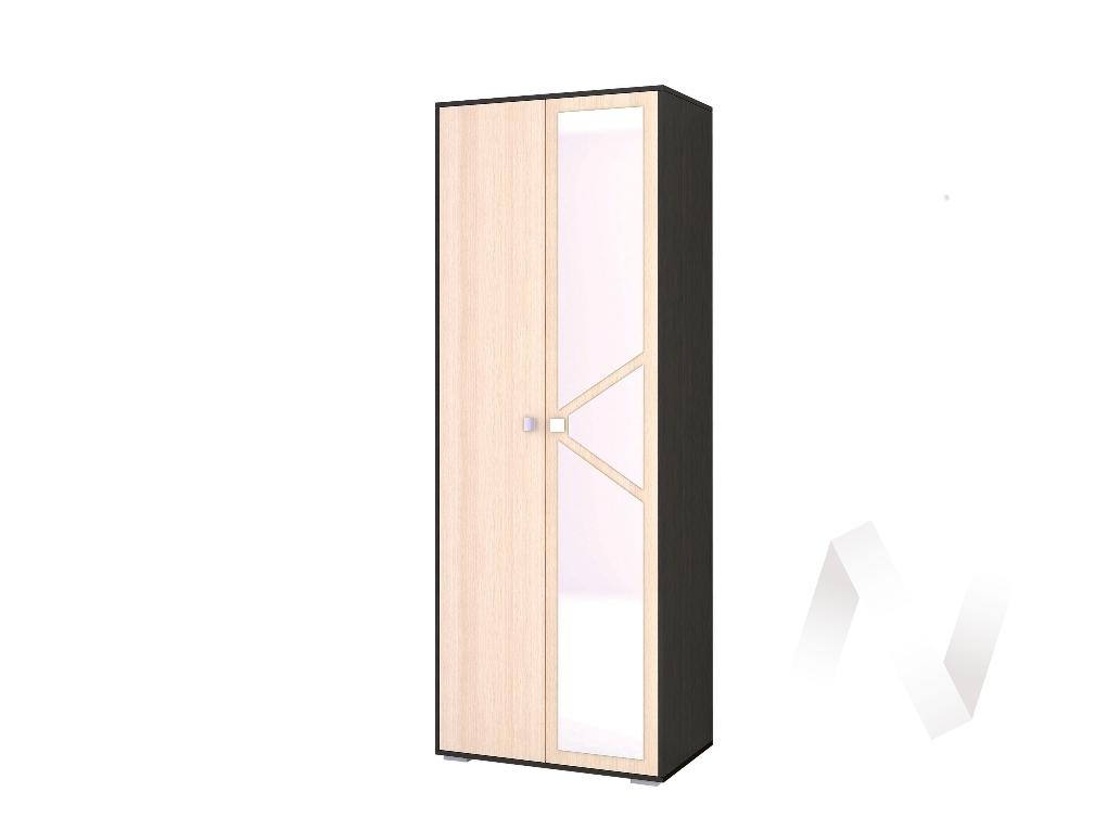 Шкаф 2-х створчатый платяной Спальня Ненси-2 (венге/дуб молочный)