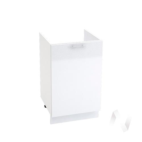 "Кухня ""Валерия-М"": Шкаф нижний под мойку 500, ШНМ 500 (белый металлик/корпус белый)"