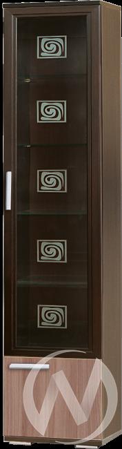 МС Статус М-18 Пенал стекло(венге-ясень шимо темный)