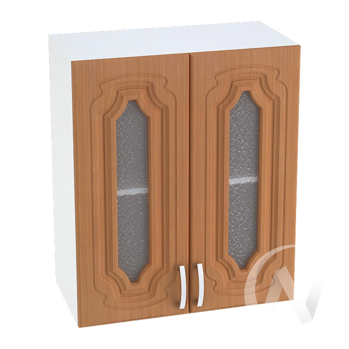"""Кухня """"Настя"""": Шкаф верхний со стеклом 600, ШВС 600 (Орех миланский/корпус белый)"""