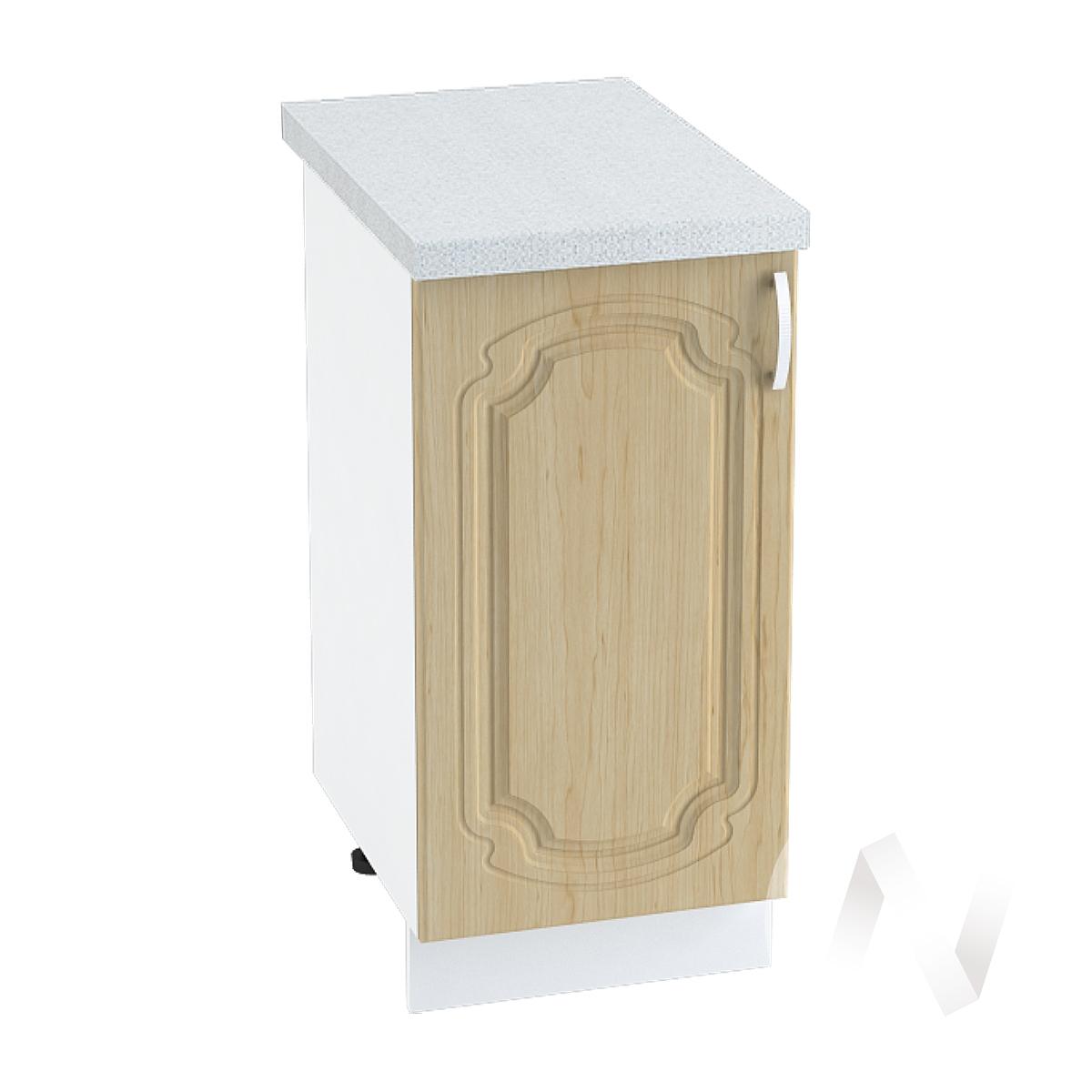 "Кухня ""Настя"": Шкаф нижний 400, ШН 400 (Береза/корпус белый)"