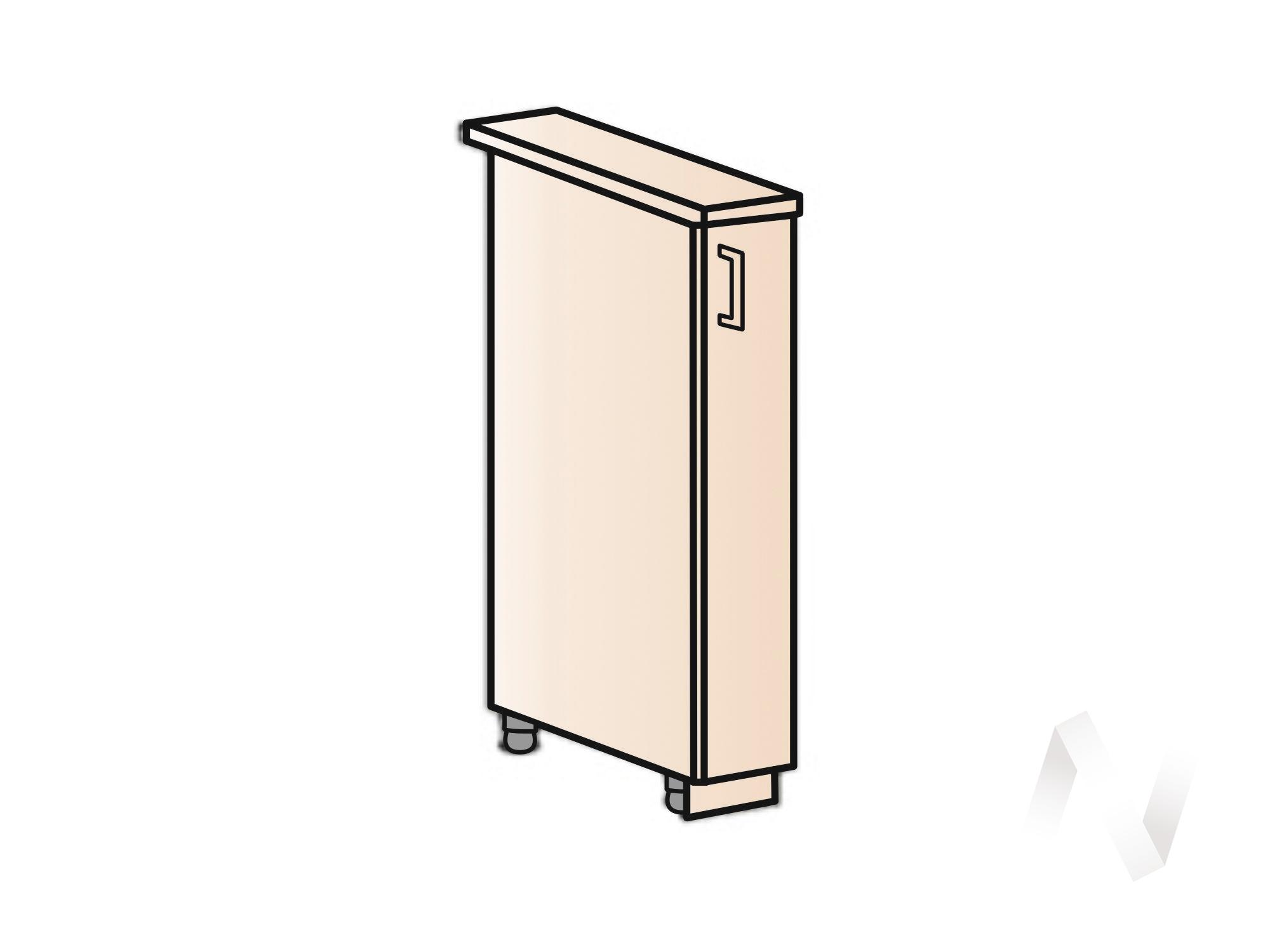 """Кухня """"Люкс"""": Шкаф нижний бутылочница 150, ШНБ 150 (Шоколад матовый/корпус белый) в Томске — авторская мебель Экостиль"""
