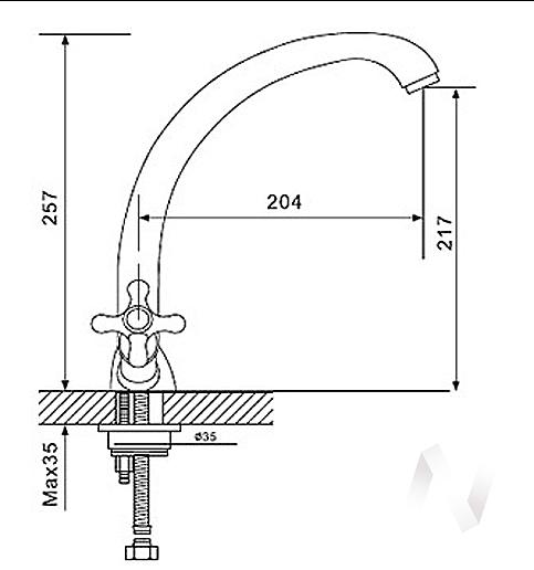 Смеситель керамический U-013 (черный 308)  в Томске — интернет магазин МИРА-мебель