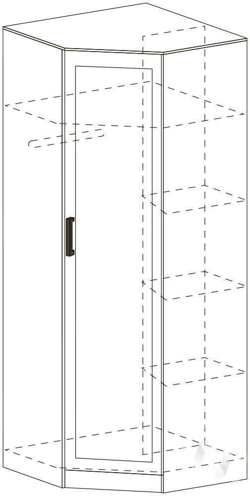 Шкаф угловой ШУ 401 Спальня Барселона (белфорт/белфорт)
