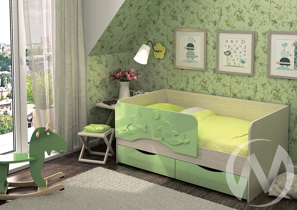 """Кровать """"Алиса 1,8"""" (Салат металлик)"""
