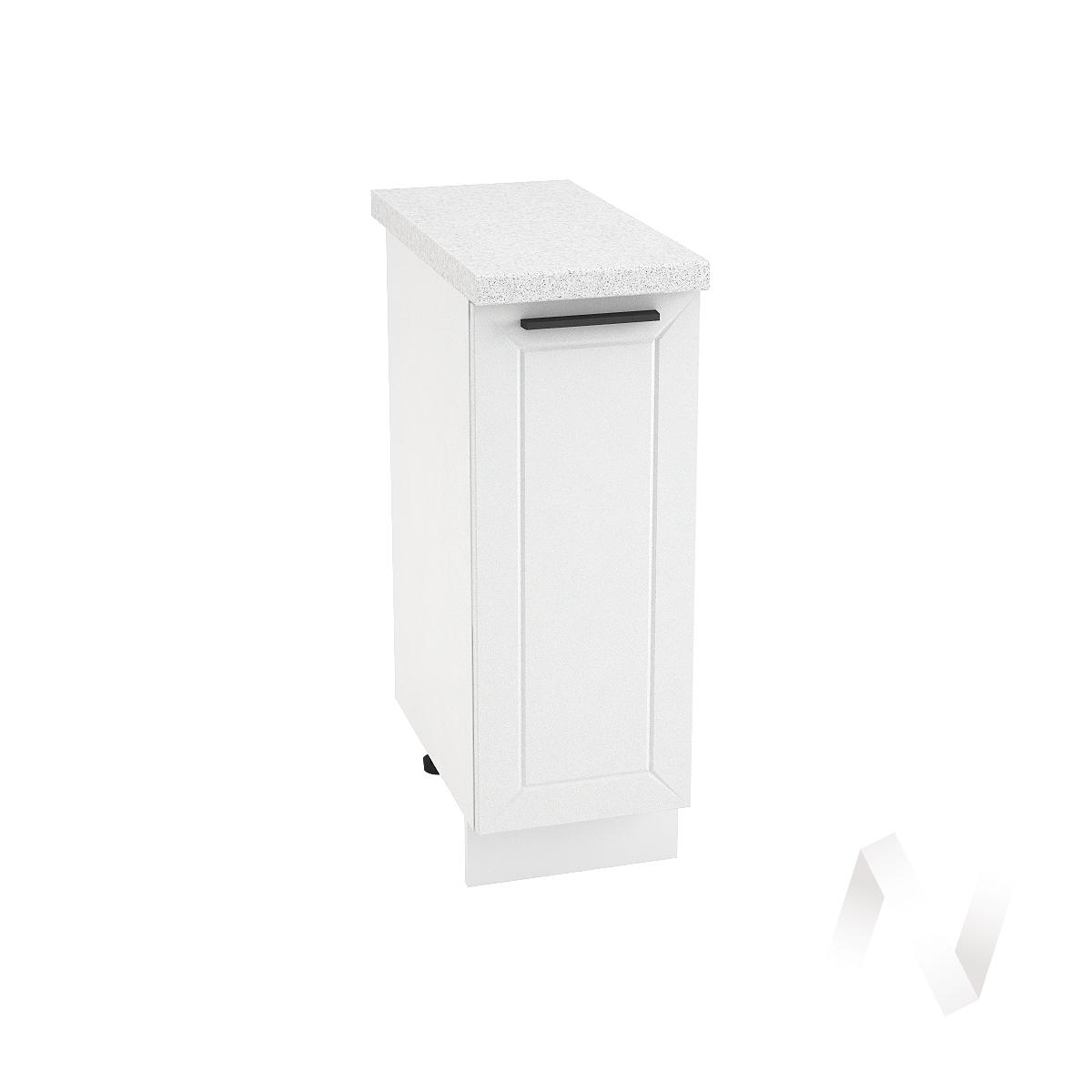 """Кухня """"Глетчер"""": Шкаф нижний 300, ШН 300 (Айленд силк/корпус белый)"""